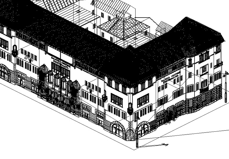 The Culture Palace Tg.Mures - wireframe from Xara